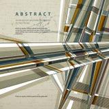 Vector abstracte geometrische achtergrond, eigentijdse stijl illustr Stock Foto