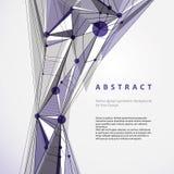 Vector abstracte geometrische achtergrond, eigentijdse stijl illustr Royalty-vrije Stock Fotografie