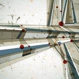 Vector abstracte geometrische achtergrond, eigentijdse stijl illustr Stock Afbeeldingen