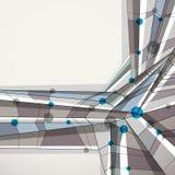 Vector abstracte geometrische achtergrond, eigentijdse stijl illustr Stock Fotografie