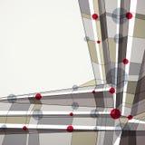 Vector abstracte geometrische achtergrond, technische stijl Royalty-vrije Stock Afbeelding