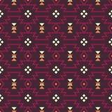 Vector abstracte geometrische elementen voor kader, grenselementen, patroon, etnische inzameling, stammen Azteeks art. Stock Foto's