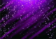 Vector abstracte glamourachtergrond met diagonale lijnen en stroken Glanzende violette achtergrond Stock Afbeeldingen