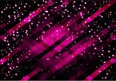 Vector abstracte glamourachtergrond met diagonale lijnen en stroken Glanzende violette achtergrond Royalty-vrije Stock Afbeelding