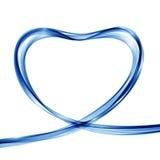 Vector abstracte golvenachtergrond in de vorm van een hart royalty-vrije illustratie