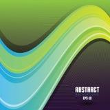 Vector Abstracte Golvende Werveling Als achtergrond vector illustratie