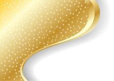 Vector abstracte gouden achtergrond Stock Afbeelding