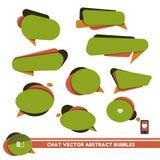 Vector abstracte groene praatjebellen Royalty-vrije Stock Foto's