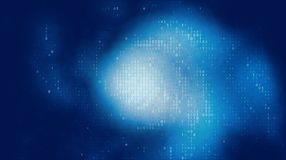 Vector abstracte grote gegevensvisualisatie Blauwe het gloeien gegevensstroom als binaire aantallen De vertegenwoordiging van de  vector illustratie