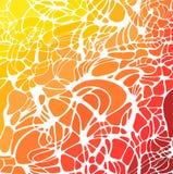 Vector abstracte hand-drawn golvenachtergrond, bloemen bionische netto textuur Stock Illustratie
