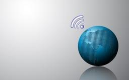 Vector abstracte het conceptenachtergrond van de gebied globale telecommunicatie Stock Foto
