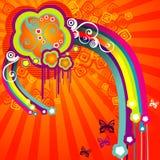 Vector abstracte illustratie als achtergrond Stock Foto