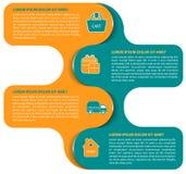 Vector abstracte infographic achtergrond van logistische regeling Royalty-vrije Stock Foto