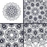 Vector abstracte kleurende pagina's met mandala Islam, Arabisch, Turks, ottomanemotieven Stock Foto