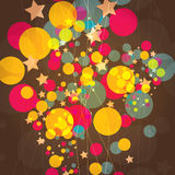 Vector abstracte kleurrijke achtergrond Stock Foto's