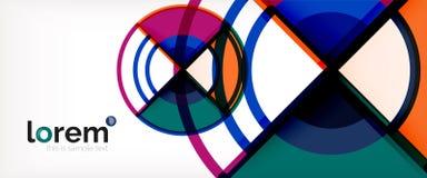 Vector abstracte kleurrijke cirkelsachtergrond royalty-vrije illustratie