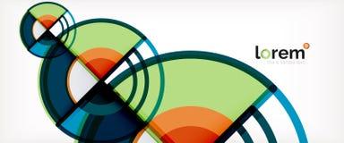 Vector abstracte kleurrijke cirkelsachtergrond vector illustratie