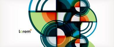Vector abstracte kleurrijke cirkelsachtergrond stock illustratie