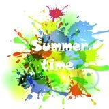Vector abstracte kleurrijke illustratie als achtergrond Royalty-vrije Stock Afbeelding