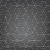 Vector abstracte lichtgrijze achtergrond Het naadloze patroon van de Neckerkubus Geometrische textuur Moderne zachte gekleurde di stock illustratie