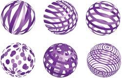 Vector abstracte purpere ballen Stock Fotografie