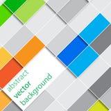 Vector abstracte rechthoekenillustratie als achtergrond Stock Foto