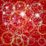 Vector abstracte rode achtergrond met bokeh en Royalty-vrije Stock Fotografie