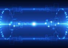 Vector abstracte techniek toekomstige technologie, elektrische telecommunicatieachtergrond stock illustratie