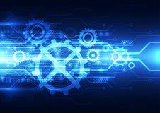 Vector abstracte techniek toekomstige technologie, elektrische telecommunicatieachtergrond royalty-vrije illustratie