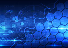 Vector abstracte techniek toekomstige technologie, telecommunicatieachtergrond Stock Foto's
