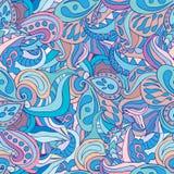 Vector abstracte textuur en kleuren Eindeloze achtergrond etnisch Stock Afbeelding