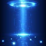 Vector abstracte toekomstige technologie, elektrische telecommunicatieachtergrond stock illustratie