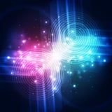 Vector abstracte toekomstige technologie, illustratieachtergrond Stock Foto's