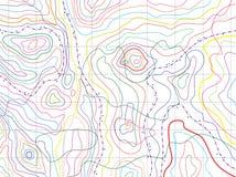 vector abstracte topografische kaart Stock Afbeeldingen