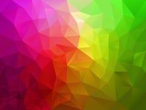 Vector abstracte veelhoekachtergrond met een driehoekspatroon in roze groene spectrumkleur Stock Foto's