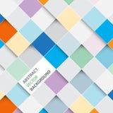Vector abstracte vierkantenachtergrond Stock Foto's