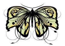 Vector abstracte vlinderillustratie Stock Foto