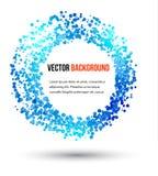 Vector abstracte water en cirkel. Stock Afbeelding