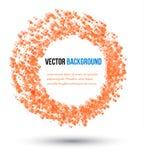 Vector abstracte water en cirkel. Royalty-vrije Stock Afbeeldingen