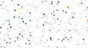 Vector abstracte Witte achtergrond met kleurenbellen bellen van de mengsel de grote en kleine kleur royalty-vrije illustratie