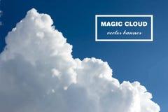 Vector abstracte wolkenbanner Stock Afbeelding
