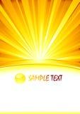 Vector abstracte zonnige banner met glasgebied Stock Afbeeldingen
