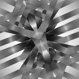 Vector abstracte zwart-wit techno eps van de patroonlijn Royalty-vrije Stock Foto's