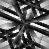 Vector abstracte zwart-wit techno eps van de patroonlijn Stock Afbeelding