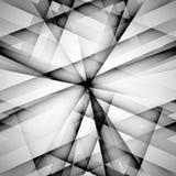 Vector abstracte zwart-wit techno eps van de patroonlijn Stock Foto