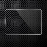 Vector abstracte zwarte technologieachtergrond Royalty-vrije Stock Foto