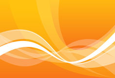 Vector abstraction. With white lines on an orange background Stock Photos
