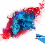 Vector abstraction from a mixture of colors. Explosion, color spray, fly away, stains with a spray of water colors,the author's work.Holi.Background for banner Stock Photography