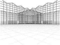 Vector abstracto 01 de las construcciones Fotografía de archivo