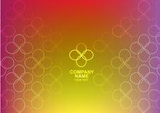 Vector abstracto amarillo EPS 10 del logotipo Imagen de archivo libre de regalías
